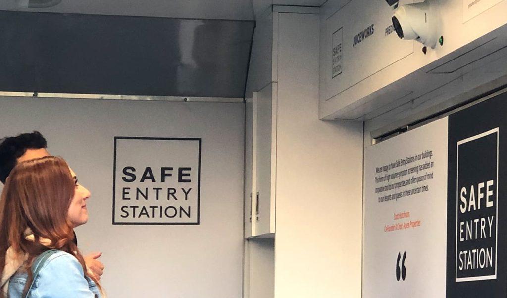 Safe Entry Station scanning station